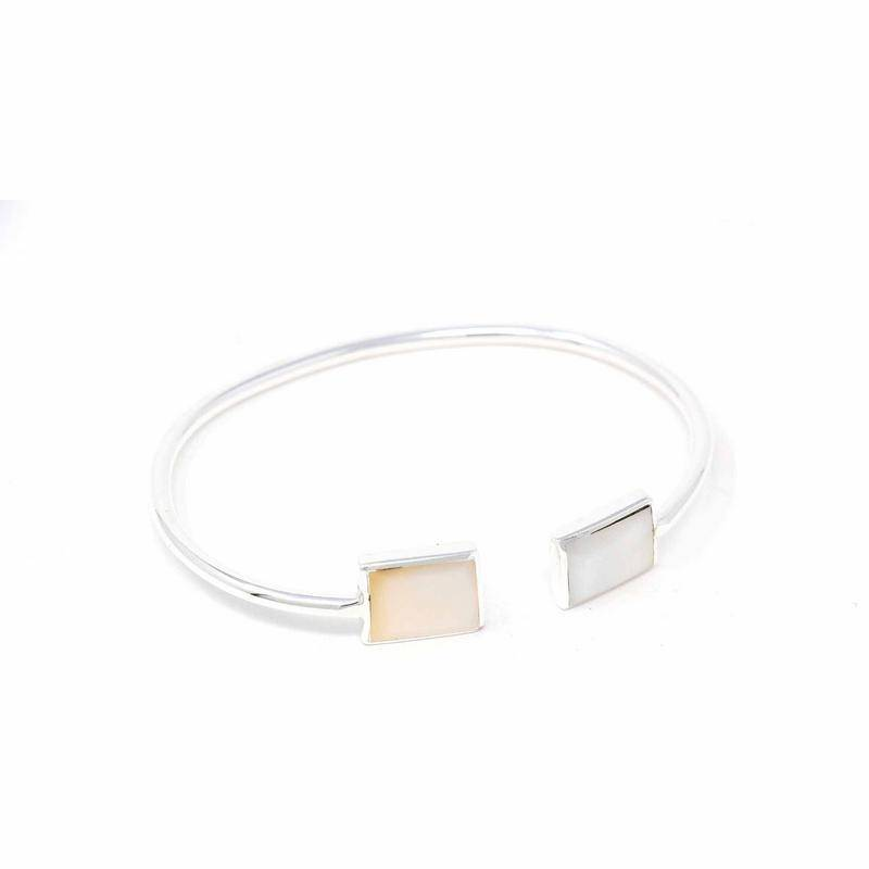 Cuff Bracelet, Mother of Pearl Square image 2