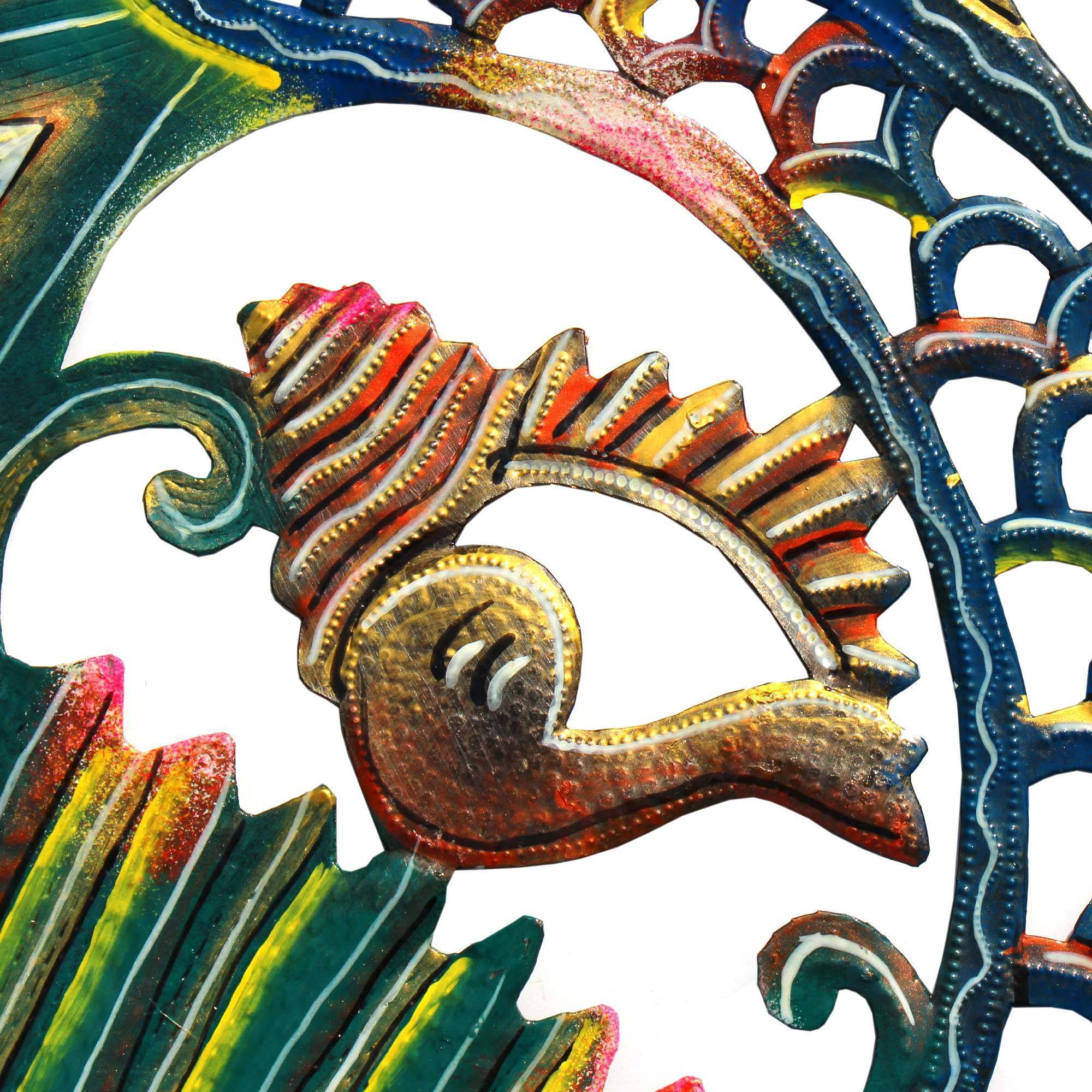 24 inch Painted Fish & Shell - Caribbean Craft image 4