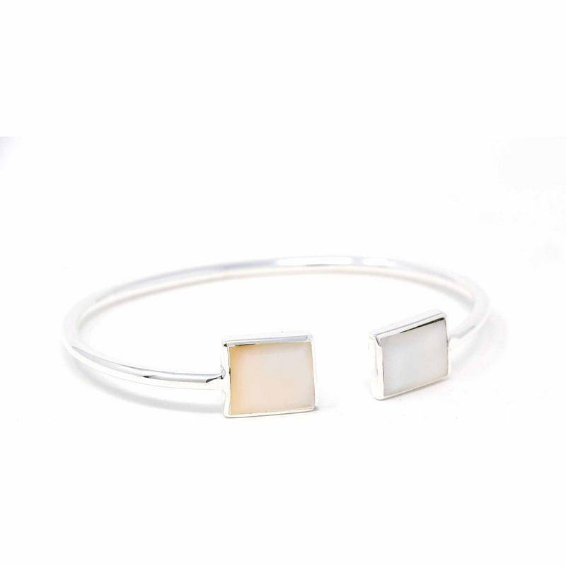 Cuff Bracelet, Mother of Pearl Square image 3