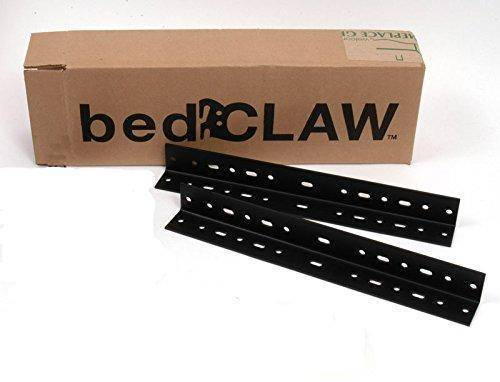 """Bed Claw 13 Inch Steel Universal Bed Frame Extension Rails, 1.5""""x1.5"""", Set of 2"""