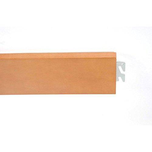 """Bed Claw 76"""" x 6"""" Twin/Full Replacement Wood Bed Rails, Bed Frame - Light Finish"""