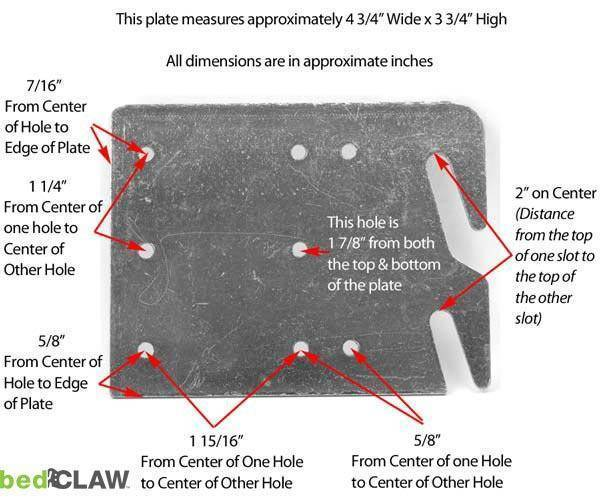 Bed Claw Retro-Hook Plates for Wooden Bed Rail Restoration, Set of 4 with Screws, Bed Frame image 2