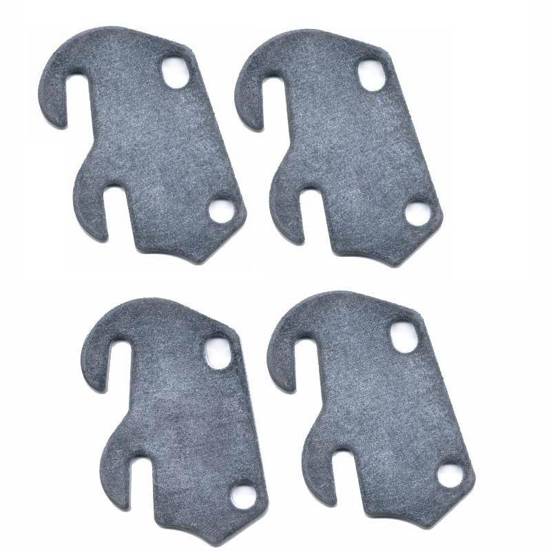 Bed Claw #4 Curved Hook Plates for Wooden Beds or Crib Conversion, Set of 4