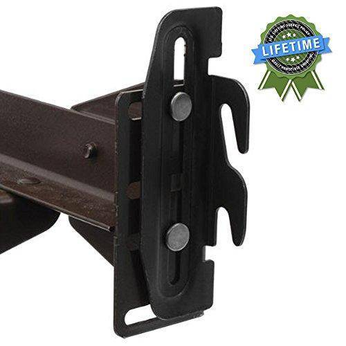 Bed Claw #35 Hook Plate Conversion Adapter Kit for Using a Bolt-On Frame with a Hook-On Headboard- Pack of 4
