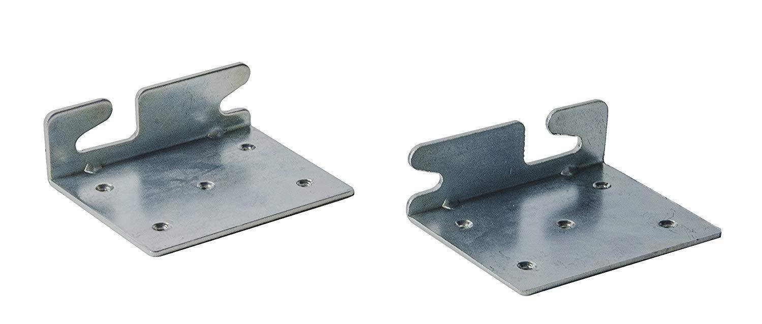 Bed Claw Angled Retro-Hook Plates, Set of 2 with Hardware image 2