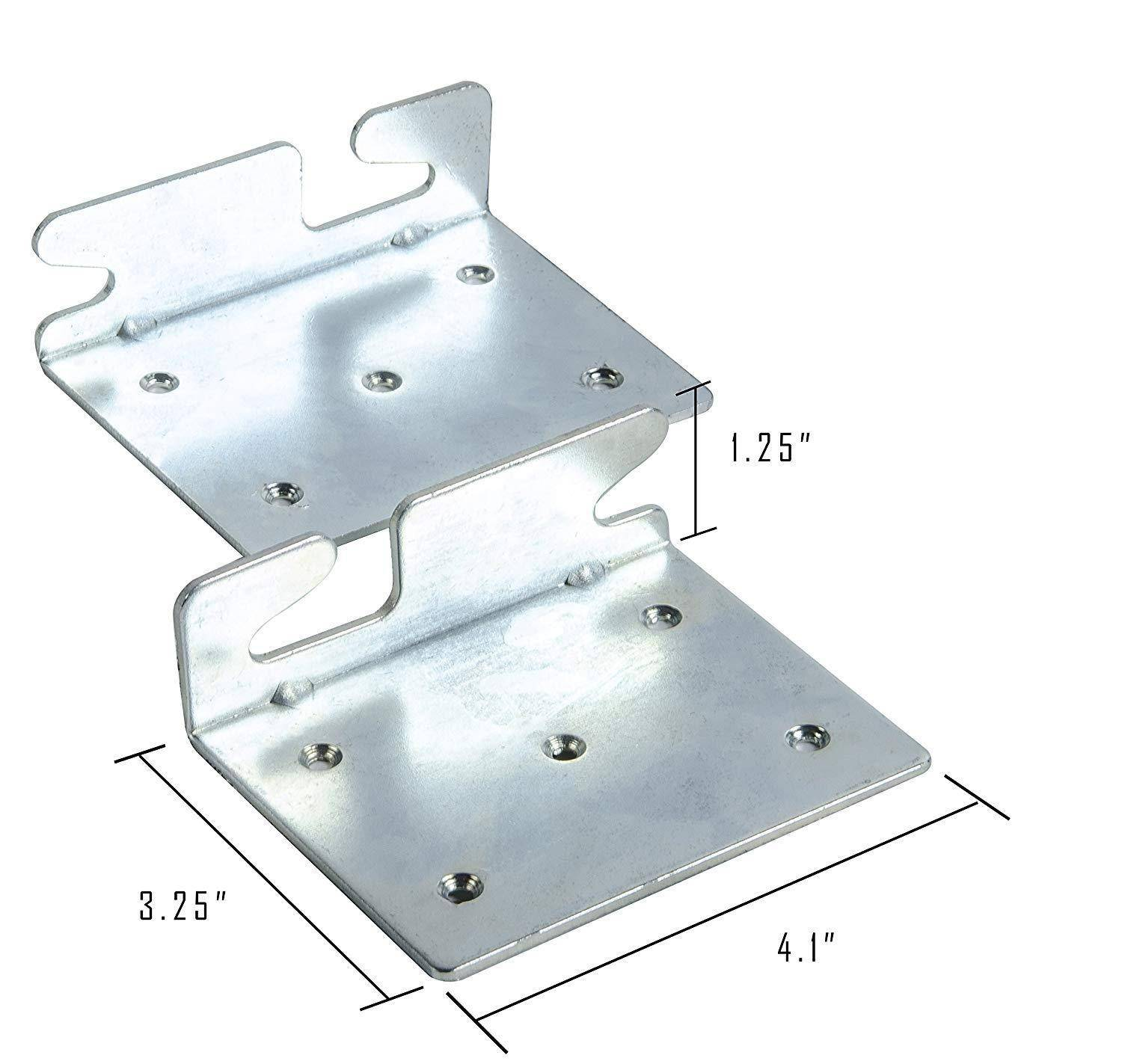 Bed Claw Angled Retro-Hook Plates, Set of 2 with Hardware image 3