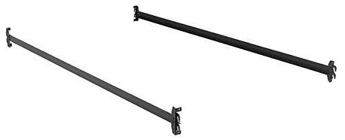 """Bed Claw Steel Bed Side Rails with Hook-On Claws, 76"""" Long for Twin & Full Size Beds"""
