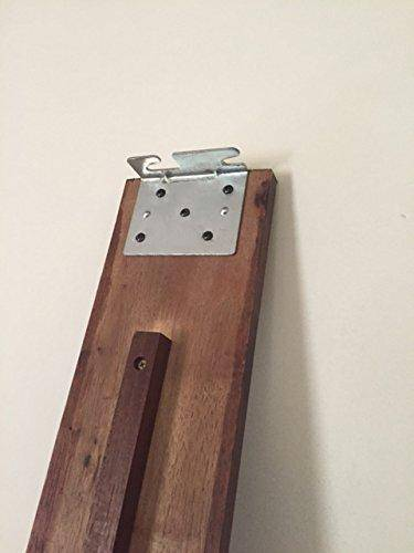 Bed Claw Angled Retro-Hook Plates, Set of 2 with Hardware image 4