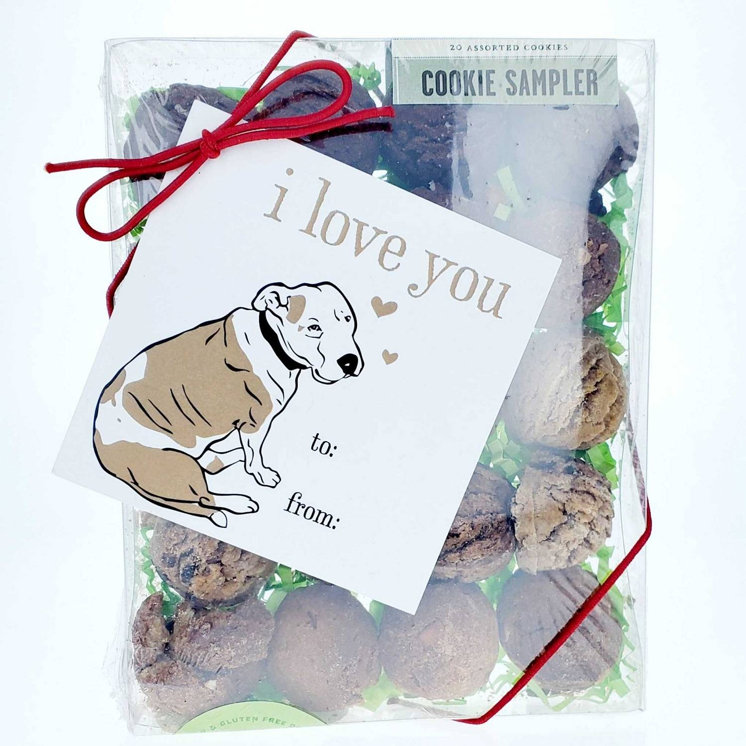 Cheery Dog Box I LOVE YOU BOX Treats + Goodies for Dogs, Size: Small image 3