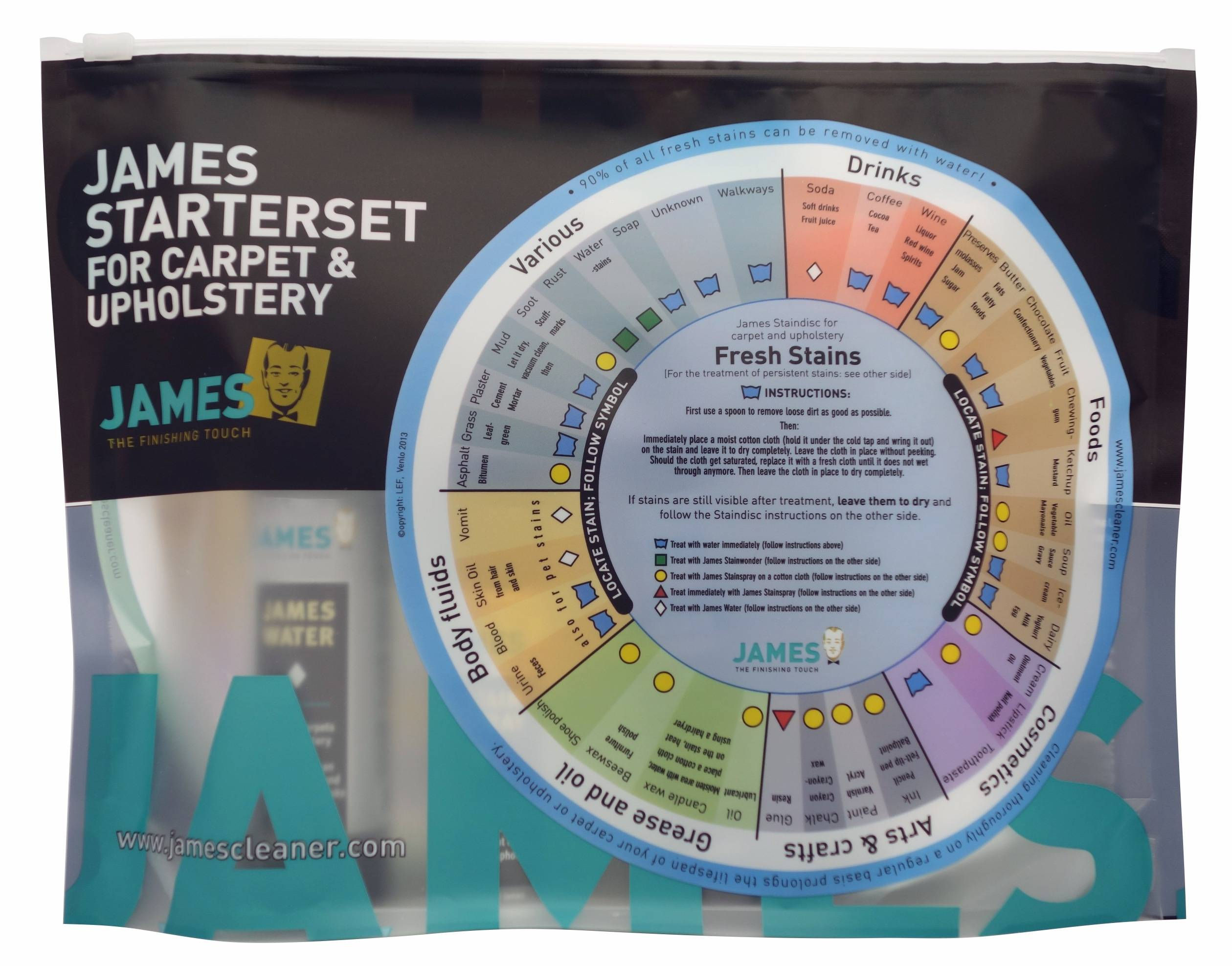 James Cleaner Starter Set - your Stain First Aid for Rugs, Carpet and Upholstery