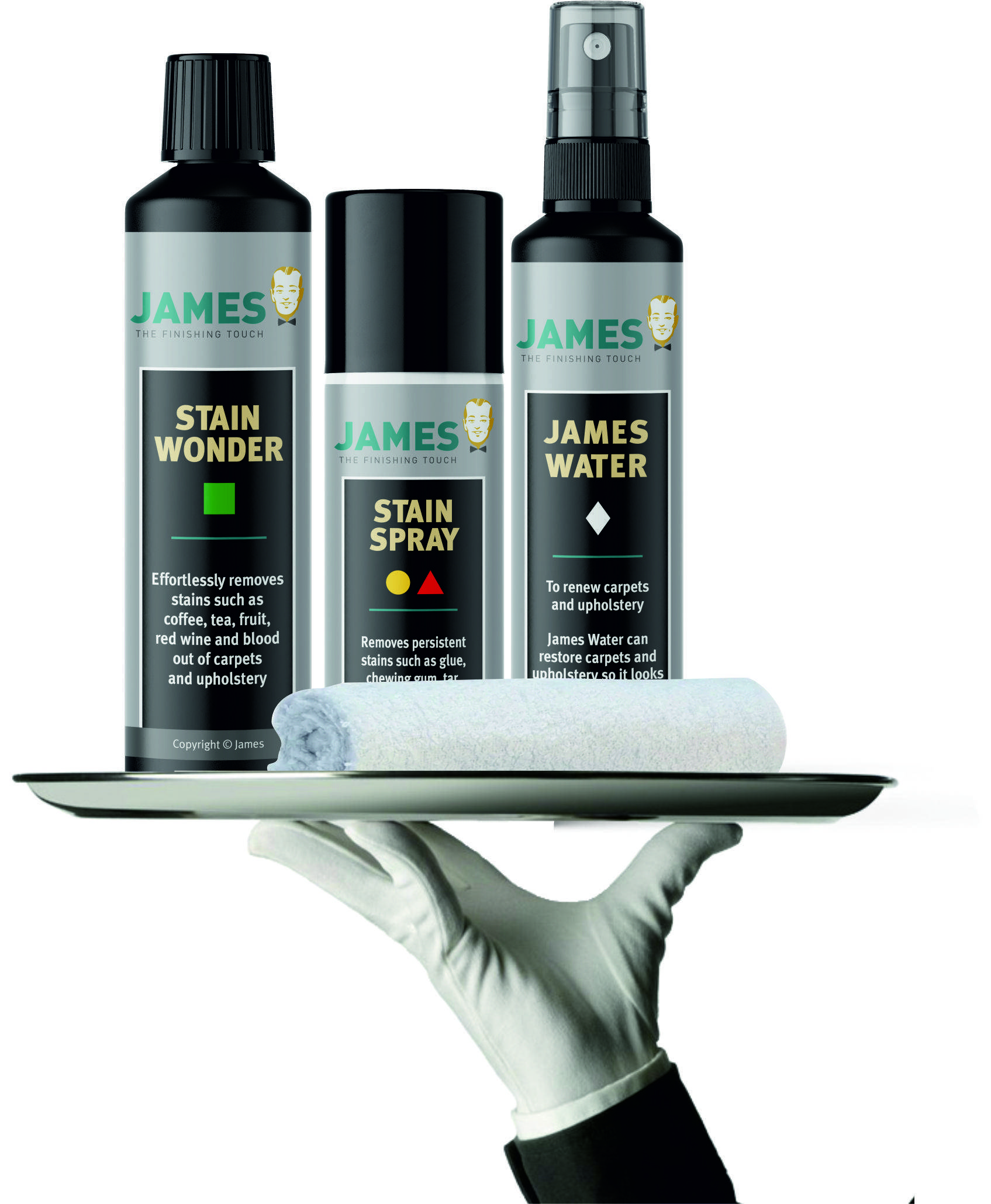 James Cleaner - James Stain Spray - The only solution for the hardest stain and soil issues on your rugs, carpet and upholstery in the James Starter Set - your Stain First Aid Kit image 3