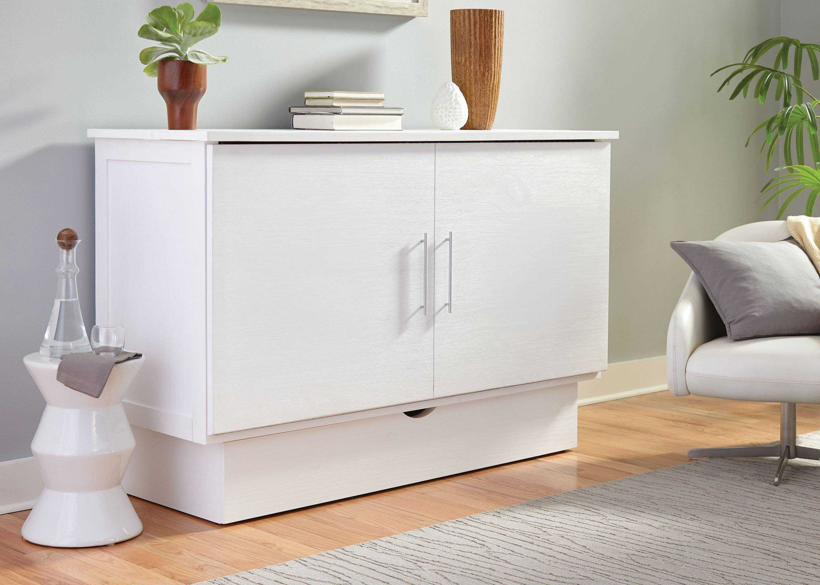 Creden-ZzZ Murphy Cabinet Pull Out Bed, Size: Full, Style: Madrid image 2
