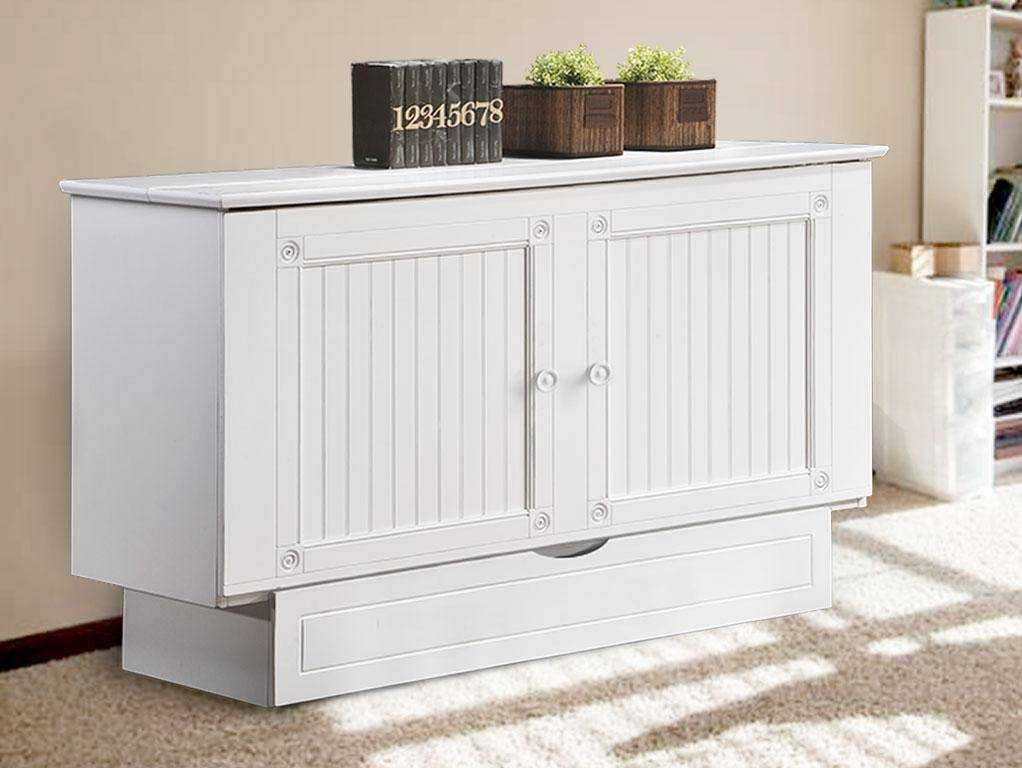 Creden-ZzZ Murphy Cabinet Pull Out Bed, Size: Queen, Style: Cottage White