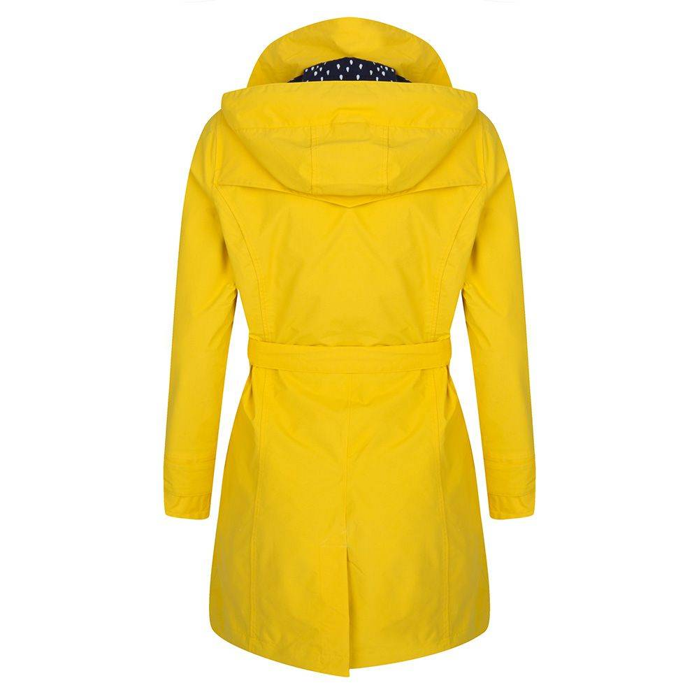 Happy Rainy Days Trench Coat, Yellow, Color: Yellow, Size: L image 2
