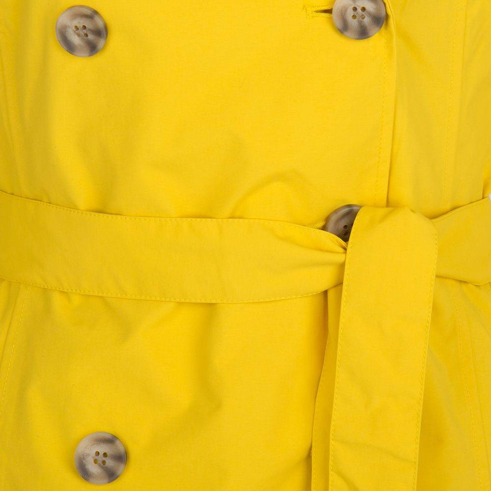 Happy Rainy Days Trench Coat, Yellow, Color: Yellow, Size: S image 5