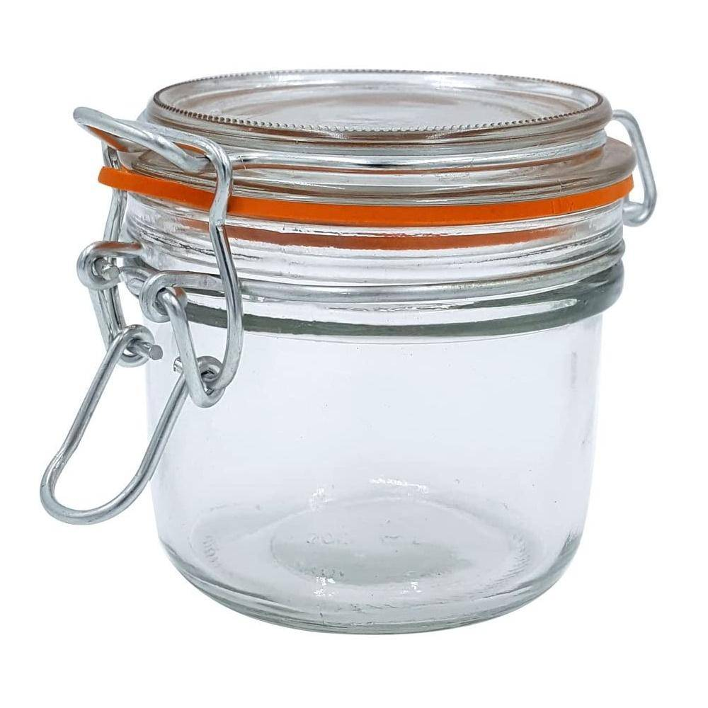 5 oz. Mini Hermes Jars with Air-Tight Clamp Top Lid, Set of 3 image 2