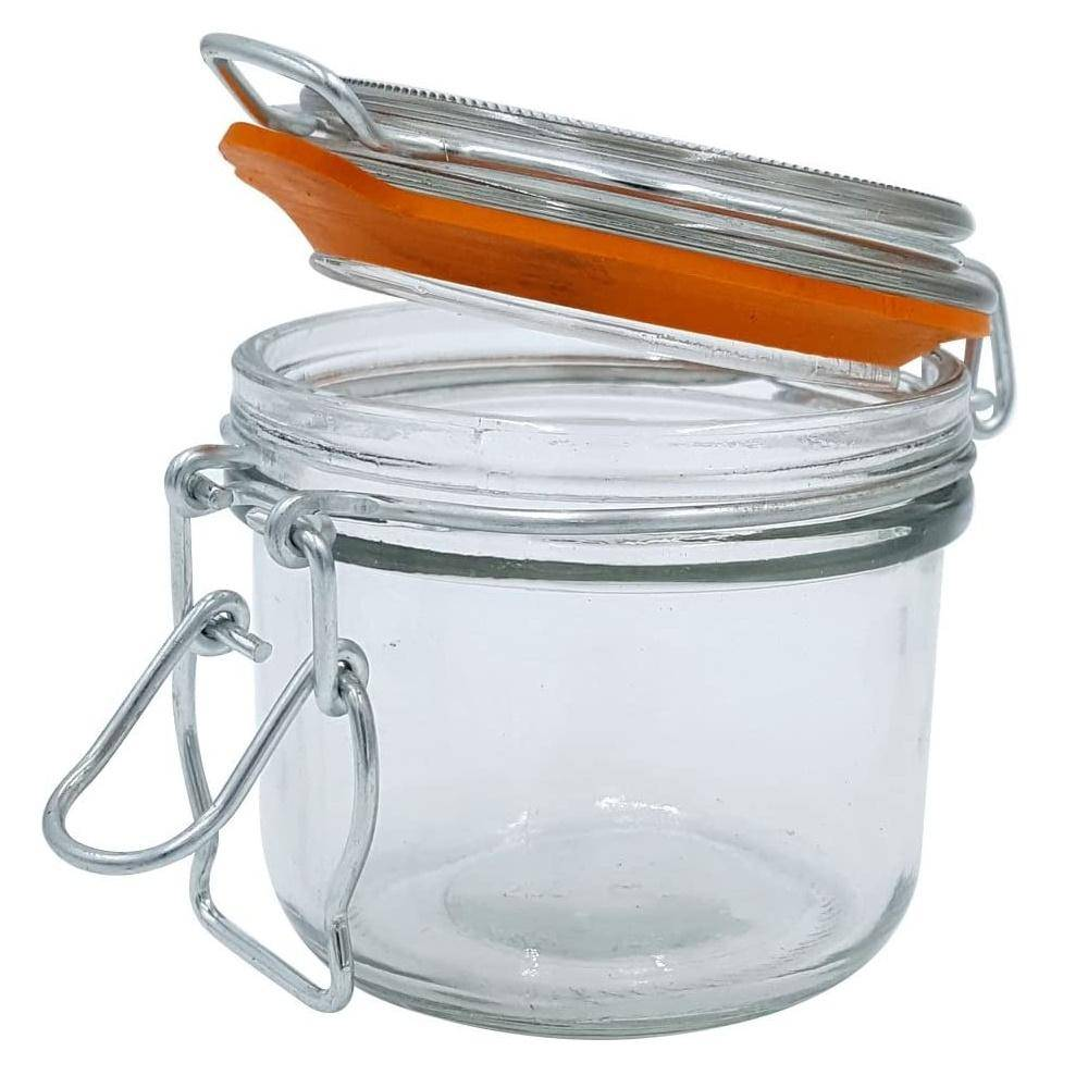 5 oz. Mini Hermes Jars with Air-Tight Clamp Top Lid, Set of 3 image 3