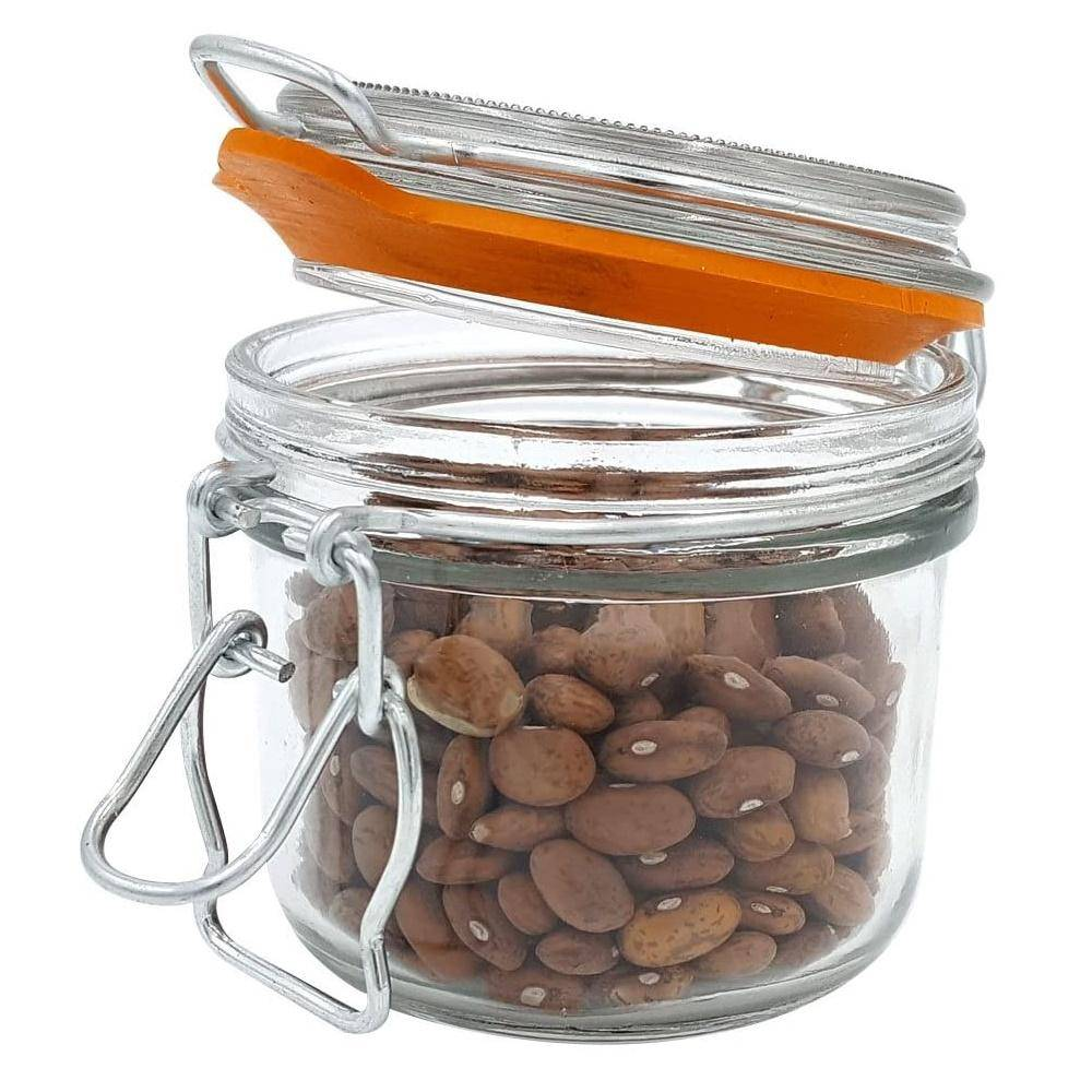 5 oz. Mini Hermes Jars with Air-Tight Clamp Top Lid, Set of 3 image 4