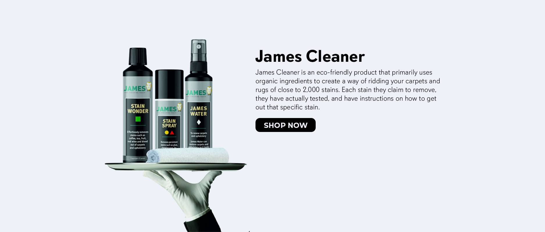 Shop James Cleaner Stain Removing Products on Zoombots.com