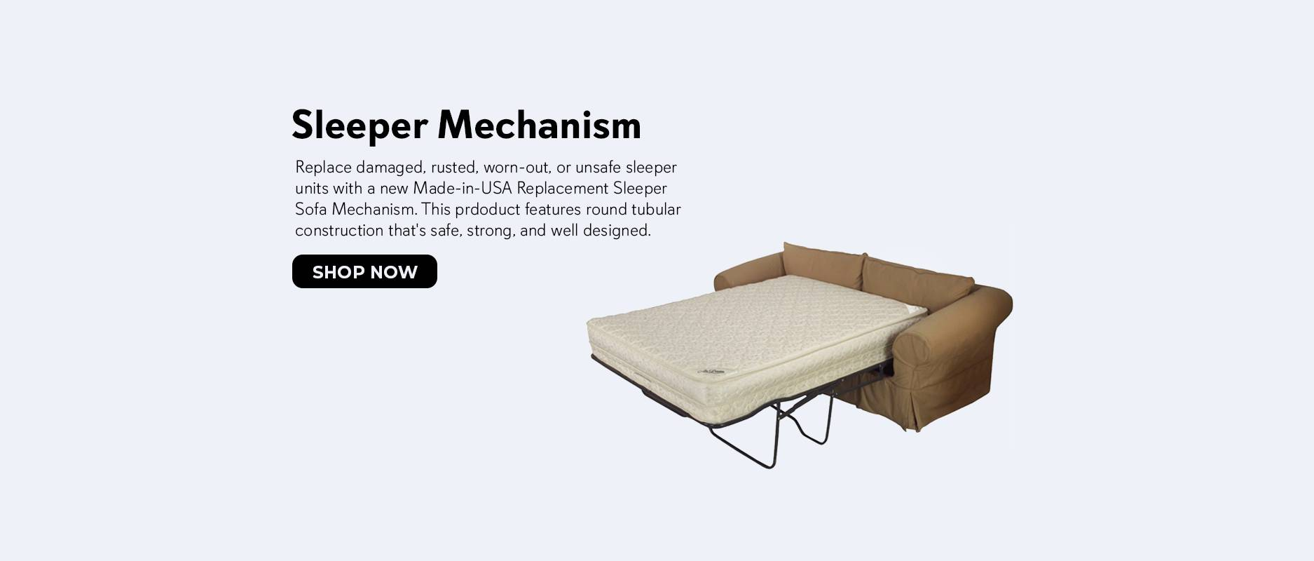Shop Replacement Sleeper Bed Mechanisms on Zoombots.com