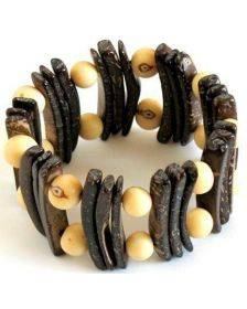 Coconut and Seed Bracelet - Calista