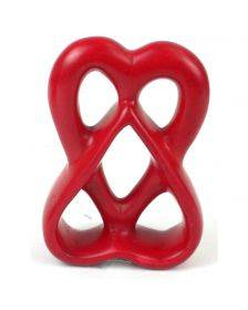 Double Heart 4 inch Red