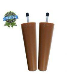 """Leg Daddy 6"""" Round Tapered ABS Plastic Replacement Leg, M8"""