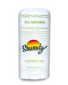 Shweaty All Natural Deodorant | Aluminum and Paraben Free | Coconut Lime
