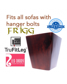 "Leg Daddy TruFitLeg FRIGG 4"" Dark Finish Square Tapered Wooden Sofa Legs, Fits on All Furniture with Hanger Bolt Attachments"