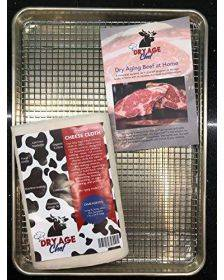 DIY KIT, Dry Aging Beef at Home, Ready-to-use with Bourbon, Introduction by Dry Age Chef, Large Beef Rack & Pan, Cheese Cloth - Perfect for Dry Aging Steak at Home