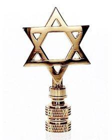 Art Finial - Star of David, Set of 2 - Religious Works of Art, Update Your Lamps!