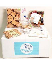 Cheery Dog Box I LOVE YOU BOX Treats + Goodies for Dogs, Size: Small