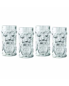 Cucina Chef - 16 oz. Screamin' Tiki Glass - Set of 4