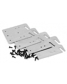 Bed Claw Retro-Hook Plates for Wooden Bed Rail Restoration, Set of 4 with Screws, Bed Frame