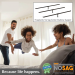 Bed Claw No Sag Mattress Slats - Center Support - Universal Size Adjusts from Full to Cal King image 2